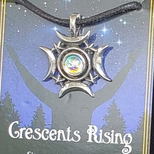 Jewelry - Crescents Rising Celestial Amulet NWT